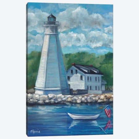 New London Lighthouse Canvas Print #BOU65} by Marnie Bourque Canvas Art Print