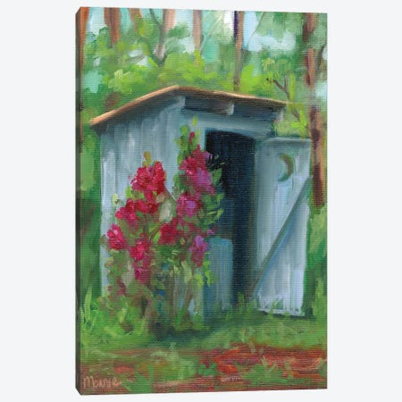 Old Privvy Canvas Print #BOU69} by Marnie Bourque Canvas Artwork