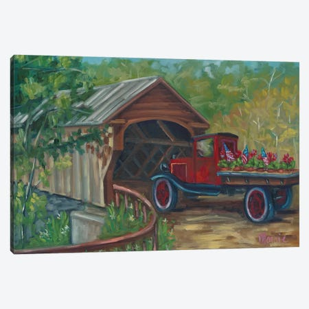 Out For Delivery Canvas Print #BOU71} by Marnie Bourque Art Print