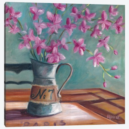 Pitcher Of Spring Canvas Print #BOU74} by Marnie Bourque Canvas Artwork