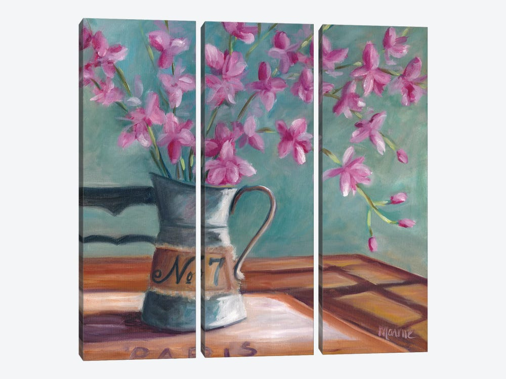 Pitcher Of Spring by Marnie Bourque 3-piece Canvas Print