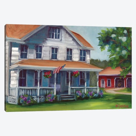 Porch Days Canvas Print #BOU75} by Marnie Bourque Canvas Art