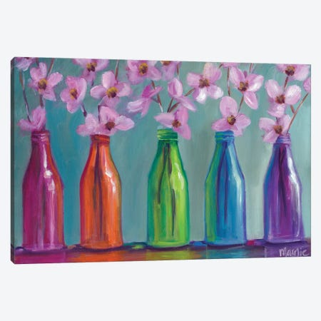 Roy G. Biv 3-Piece Canvas #BOU77} by Marnie Bourque Canvas Art