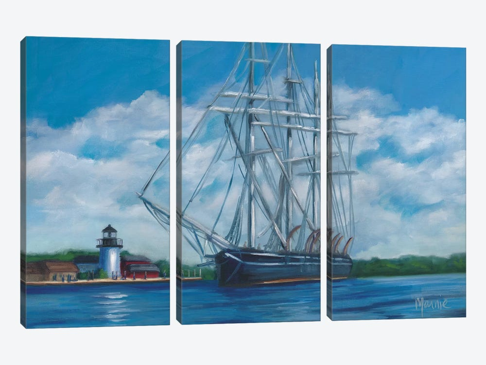 Sailing by Marnie Bourque 3-piece Canvas Print
