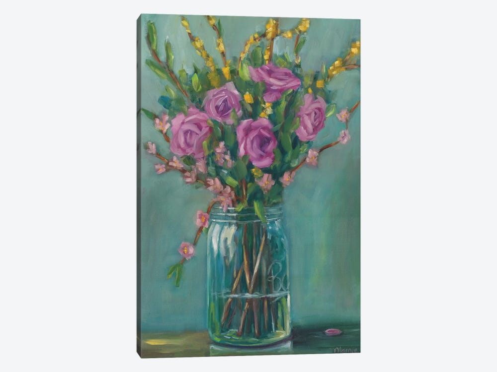 Spring Blossoms II by Marnie Bourque 1-piece Canvas Art