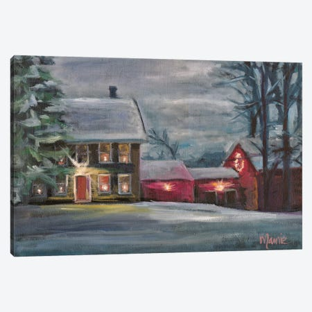 Sterling Hill Twilight 3-Piece Canvas #BOU83} by Marnie Bourque Canvas Art