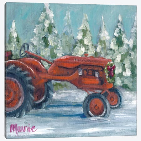 Tractor 4 Seasons, Allis Chalmer's Holiday 3-Piece Canvas #BOU90} by Marnie Bourque Art Print