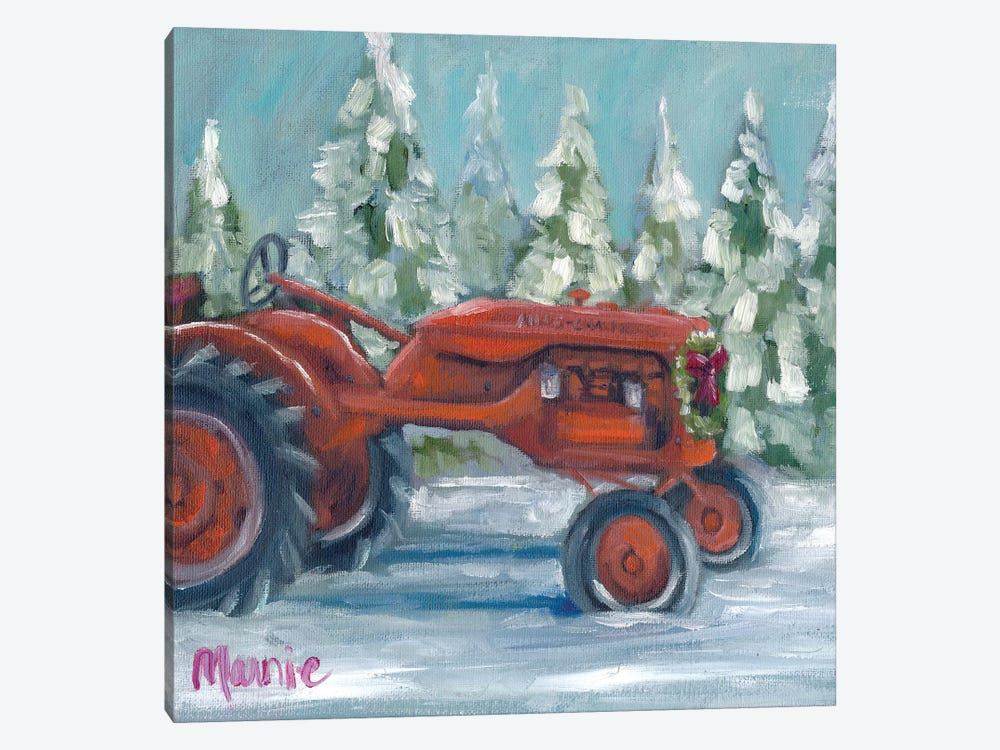 Tractor 4 Seasons, Allis Chalmer's Holiday by Marnie Bourque 1-piece Canvas Print