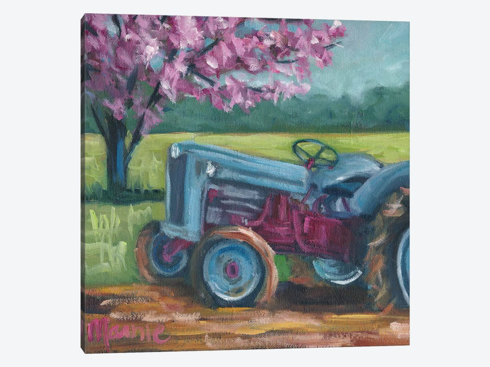 Tractor Spring by Marnie Bourque 1-piece Canvas Wall Art
