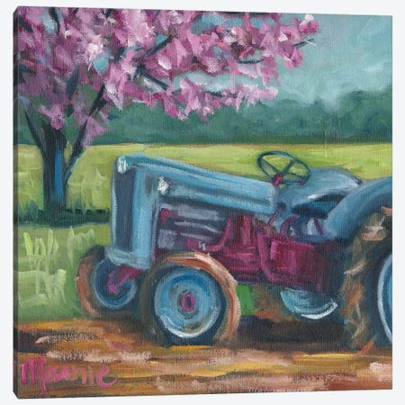 Tractor Spring Canvas Print #BOU91} by Marnie Bourque Canvas Print