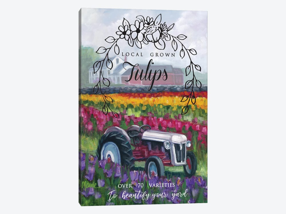 Tractoring Through The Tulips I by Marnie Bourque 1-piece Art Print