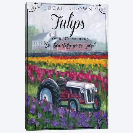 Tractoring Through The Tulips II Canvas Print #BOU93} by Marnie Bourque Canvas Print