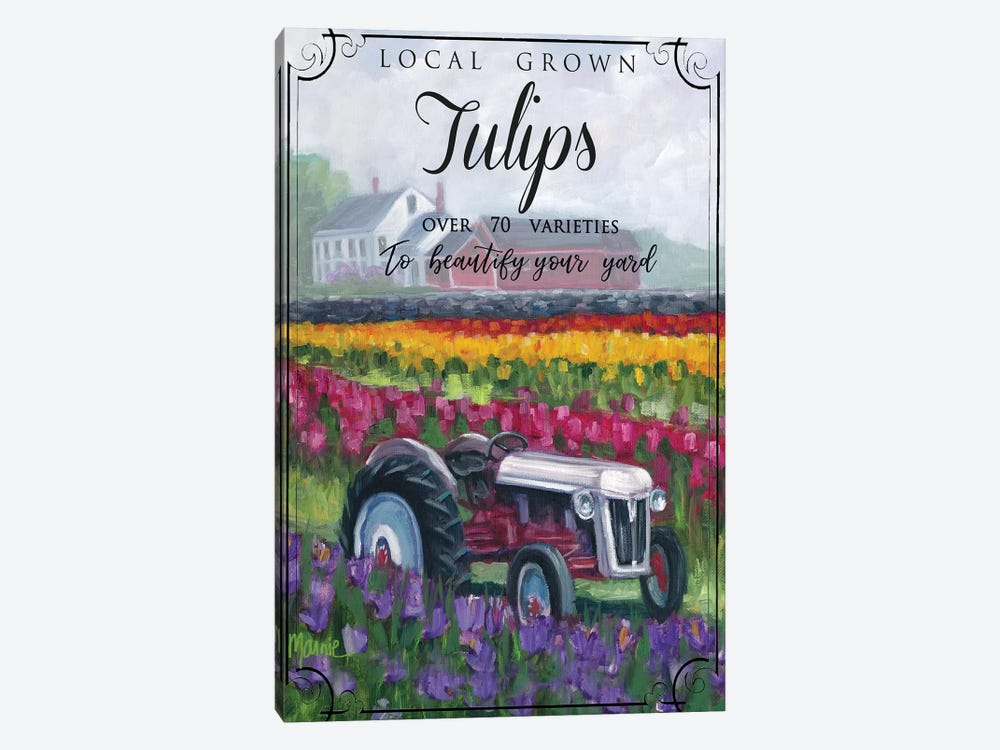Tractoring Through The Tulips II by Marnie Bourque 1-piece Canvas Art