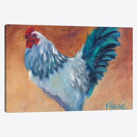 Blue Chick Canvas Print #BOU9} by Marnie Bourque Art Print