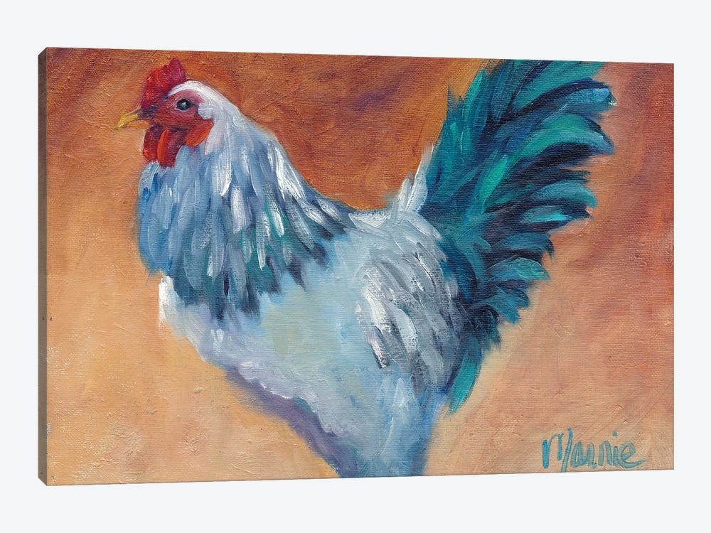 Blue Chick by Marnie Bourque 1-piece Canvas Print