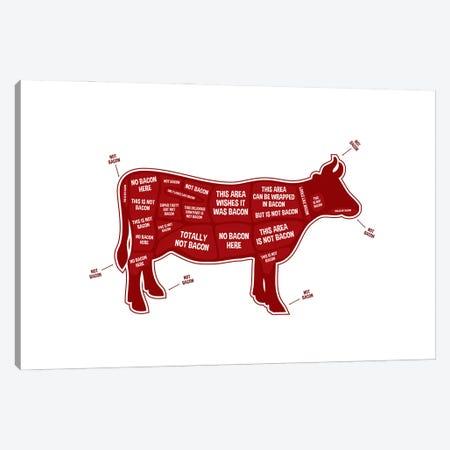 Not Bacon - Cow Canvas Print #BPP107} by Benton Park Prints Art Print