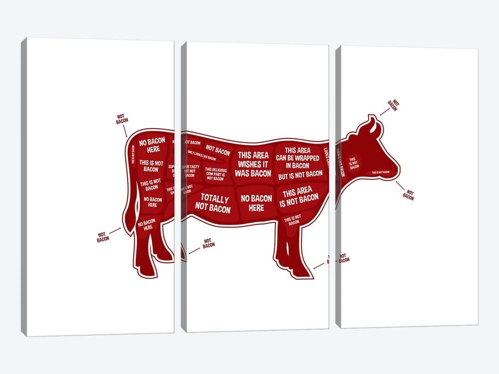 Not Bacon - Cow by Benton Park Prints 3-piece Canvas Art Print