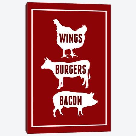 Wings Burgers Bacon Canvas Print #BPP109} by Benton Park Prints Canvas Artwork