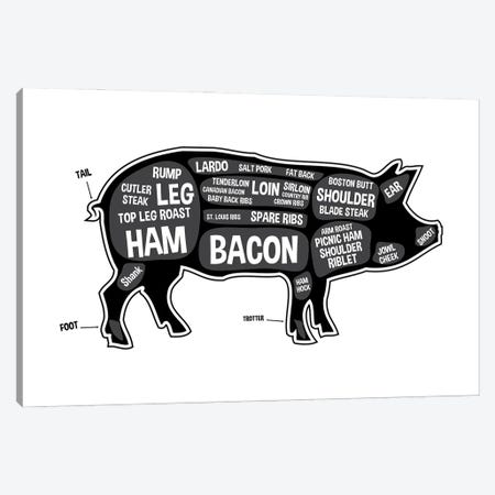 Pig Butcher Print Canvas Print #BPP117} by Benton Park Prints Canvas Wall Art