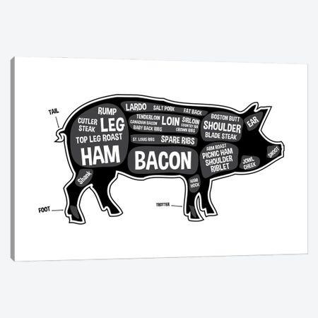 Pig Butcher Print Canvas Print #BPP117} by Benton Park Prints Canvas Wall Art