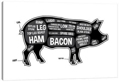 Pig Butcher Print Canvas Art Print