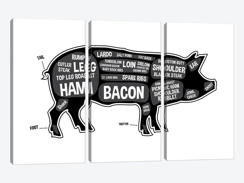 Pig Butcher Print by Benton Park Prints 3-piece Canvas Art