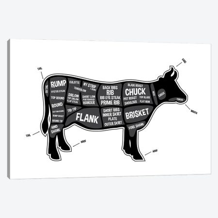 Cow Butcher Print Canvas Print #BPP119} by Benton Park Prints Canvas Art Print