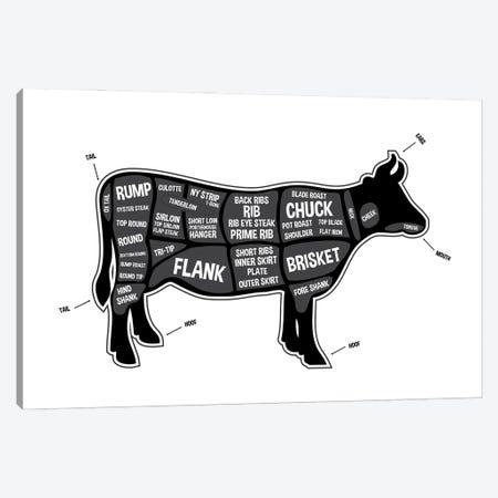 Cow Butcher Print Canvas Print #BPP119} by Benton Park Prints Canvas Art Print