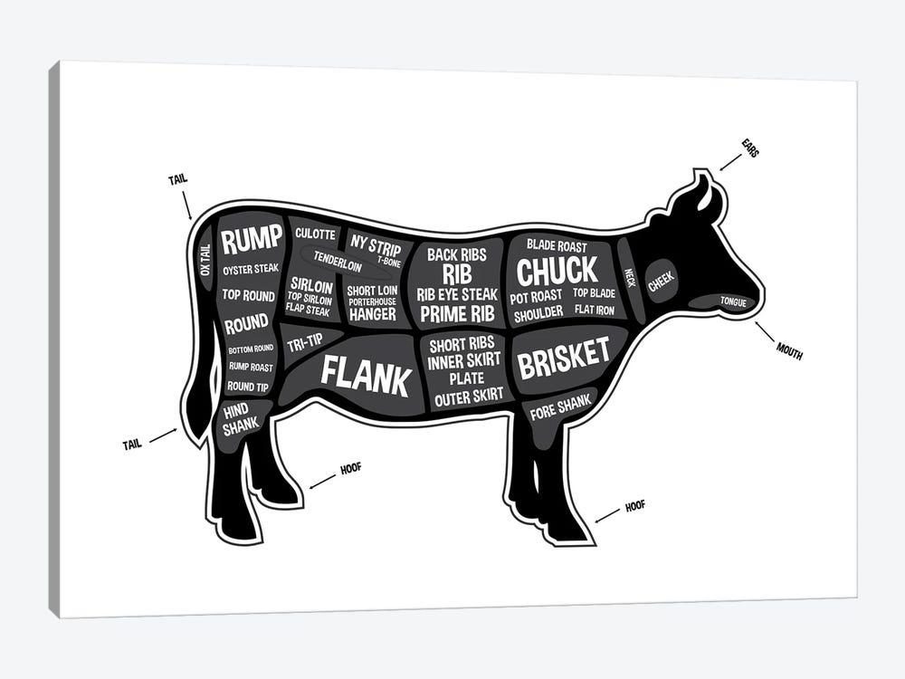 Cow Butcher Print by Benton Park Prints 1-piece Canvas Art