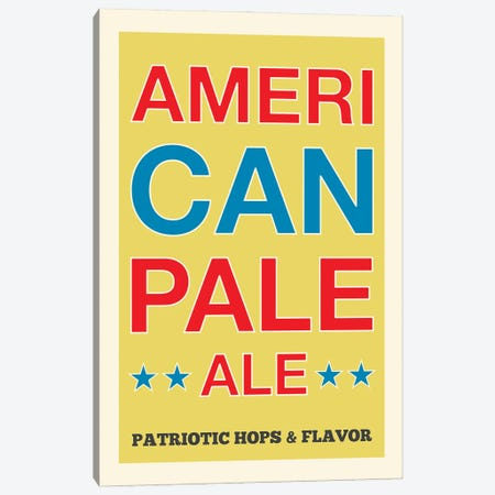 American Pale Ale Canvas Print #BPP123} by Benton Park Prints Canvas Artwork