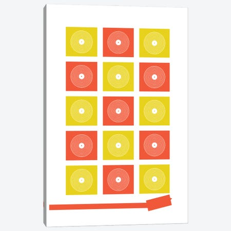Abstract Record Player Canvas Print #BPP125} by Benton Park Prints Canvas Art Print
