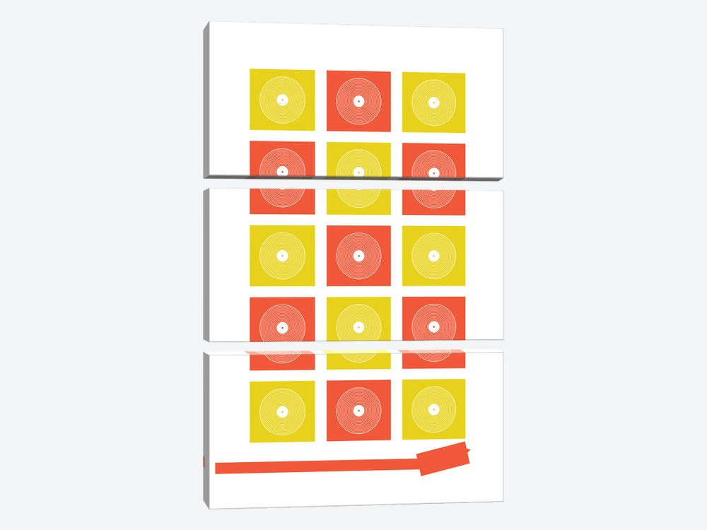 Abstract Record Player by Benton Park Prints 3-piece Canvas Art Print