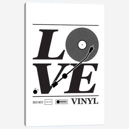 Love Vinyl Canvas Print #BPP135} by Benton Park Prints Canvas Art
