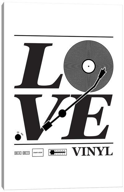 Love Vinyl Canvas Art Print