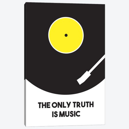 The Only Truth Is Music Canvas Print #BPP136} by Benton Park Prints Canvas Wall Art