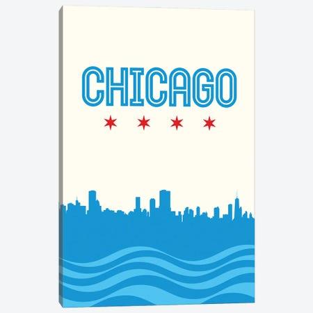 Chicago Flag Skyline Canvas Print #BPP137} by Benton Park Prints Canvas Wall Art