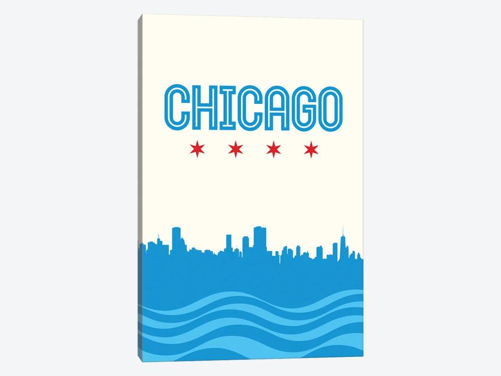 Chicago Flag Skyline by Benton Park Prints 1-piece Canvas Art
