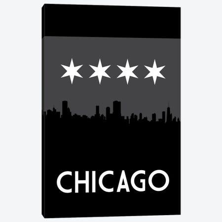 Chicago Skyline At Night Canvas Print #BPP139} by Benton Park Prints Art Print