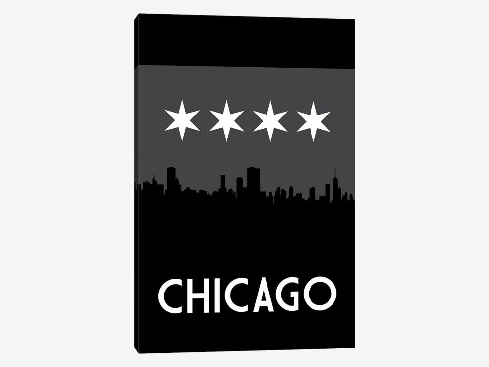Chicago Skyline At Night by Benton Park Prints 1-piece Canvas Wall Art