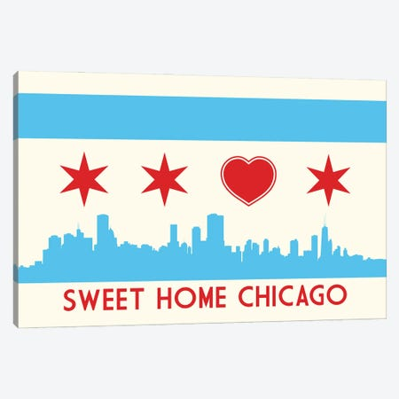 Sweet Home Chicago Canvas Print #BPP141} by Benton Park Prints Canvas Art