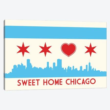 Sweet Home Chicago Canvas Print #BPP141} by Benton Park Prints Canvas Art