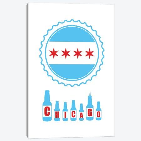 Chicago Bottles Canvas Print #BPP143} by Benton Park Prints Canvas Artwork