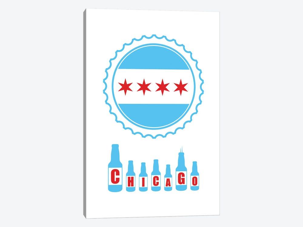Chicago Bottles by Benton Park Prints 1-piece Canvas Print