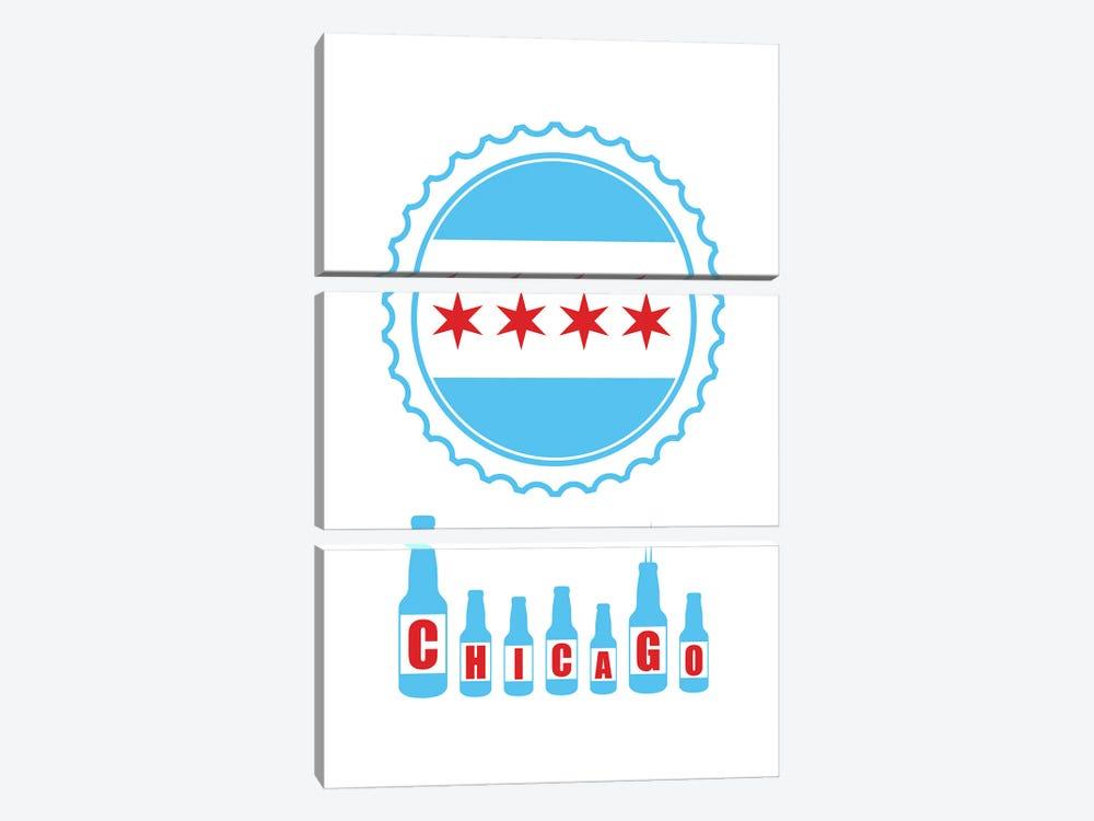 Chicago Bottles by Benton Park Prints 3-piece Canvas Art Print