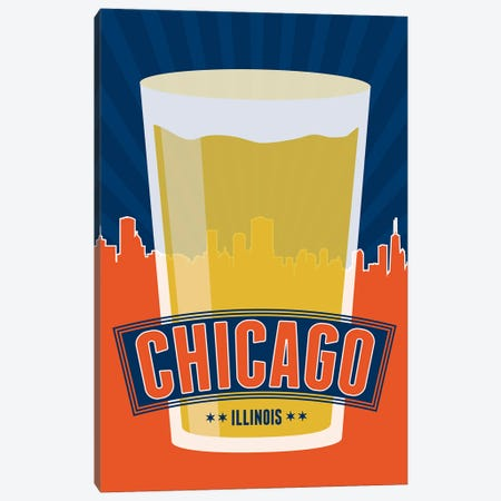 Chicago Beer Canvas Print #BPP144} by Benton Park Prints Canvas Art Print