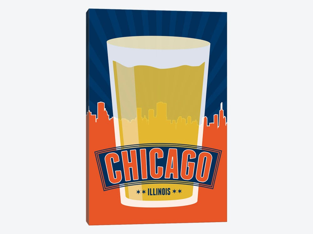 Chicago Beer by Benton Park Prints 1-piece Canvas Wall Art