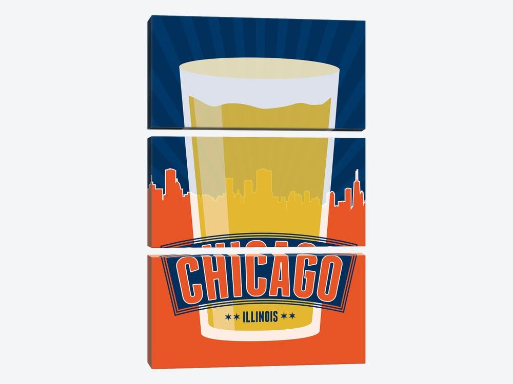 Chicago Beer by Benton Park Prints 3-piece Canvas Artwork