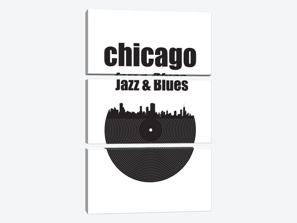 Chicago Jazz & Blues by Benton Park Prints 3-piece Canvas Wall Art
