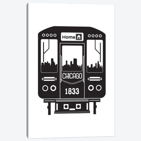 Chicago Train Skyline Canvas Print #BPP147} by Benton Park Prints Canvas Art Print