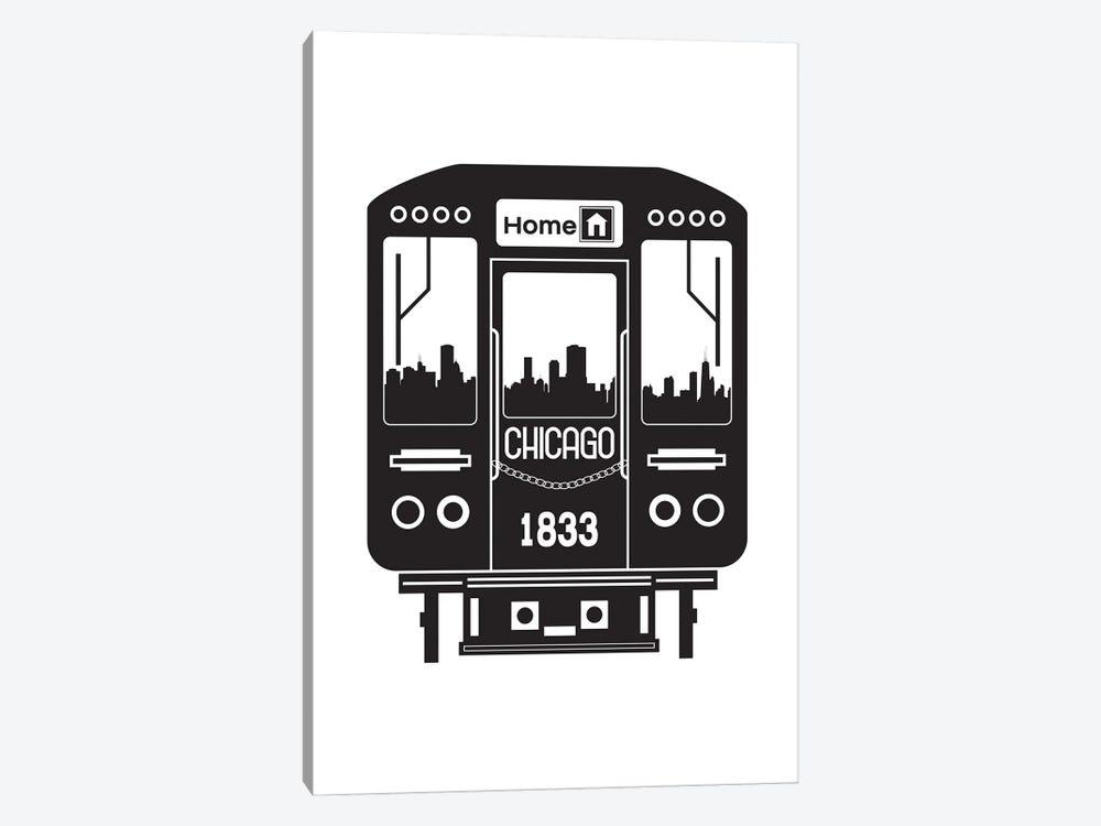 Chicago Train Skyline by Benton Park Prints 1-piece Canvas Art Print
